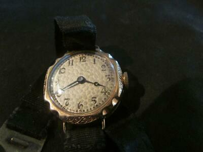 Lovely Art Deco  Ladies Quality 9ct Rose Gold Watch, Birm,1931