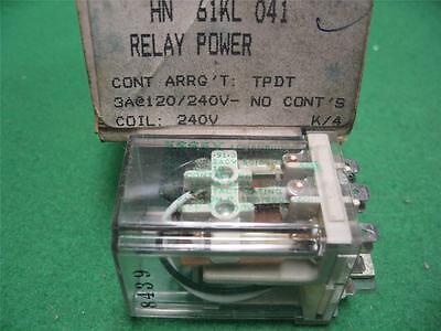 Carrier Hn61kl041 Relay Power Essex 741-91-301 208240 Coil Hn 61kl 041 Tpdt 3a
