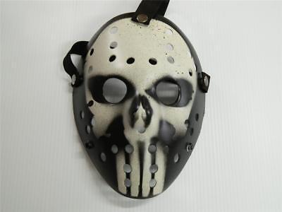 HALLOWEEN HORROR MOVIE PROP - Jason Modified Hockey Mask Punisher](Jason Halloween Prop)