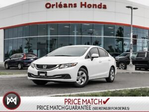 2015 Honda Civic Sedan LX SEDAN, A/C, CRUISE ,BLUETOOTH 1 OWNER