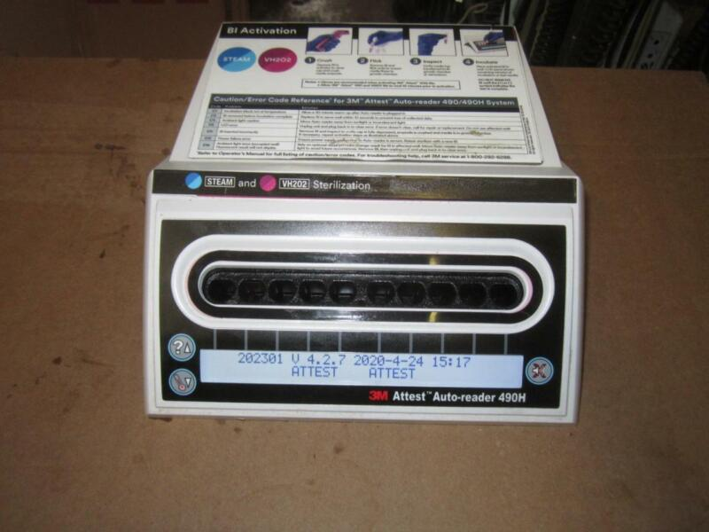 3M ATTEST 490h  AUTO  READER   INCUBATOR WITH POWER CORD