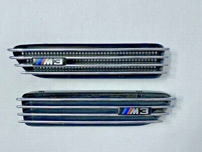 BMW E46 M3 Coupe & Convertible Fender Grille, Pair, Genuine OEM, Used