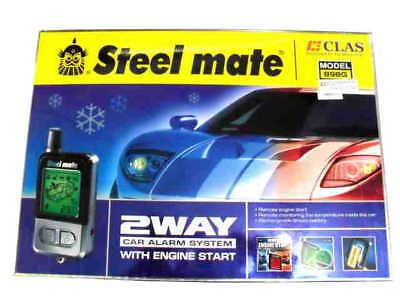 New Steel mate 898G 2 Way LCD Car Alarm Remote Engine Start