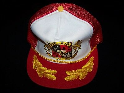 Stearns Boat Covers vintage Snapback cap 1980s Fishing hat mesh adjustable