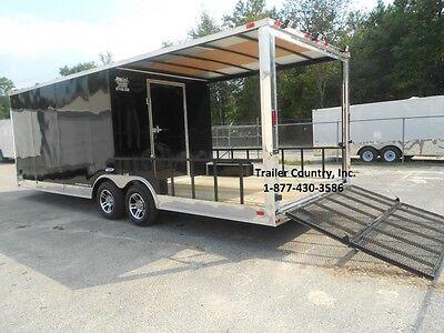 New 2021 8.5x24 8.5 X 24 Custom Utility Enclosed Cargo Trailer W Porch Ramp