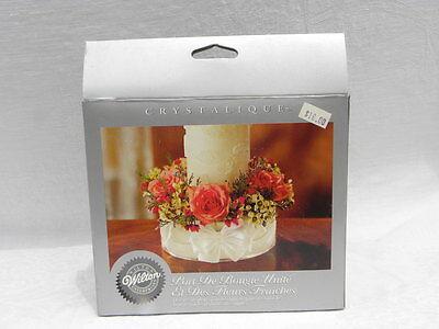 Wedding/Formal Wilton Enterprises Crystalique Unity Candle/ Fresh Flower Holder