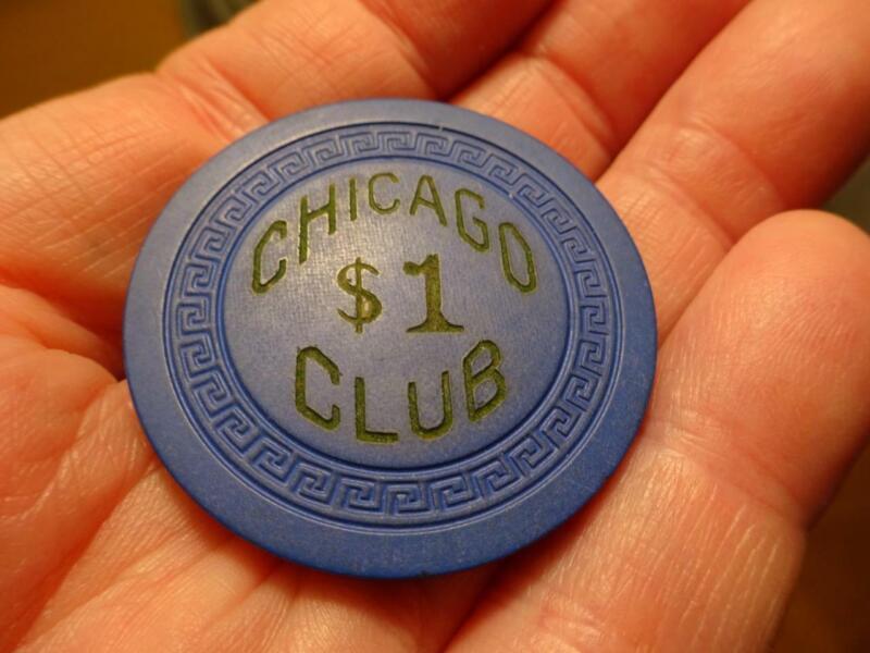 RARE ILLEGAL SARATOGA SPRINGS New York CHICAGO CLUB Poker Chip VG MAFIA LUCIANO