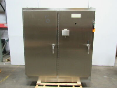 Hoffman A72h6618ss Stainless Steel Electrical Box Enclosure 72x66x18 2 Door