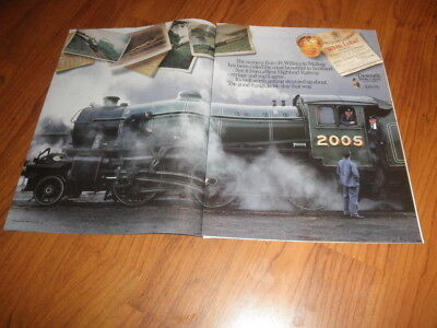 DEWERS WHITE LABEL AD-1989- WEST HIGHLAND RAILWAY-Two Page Gem