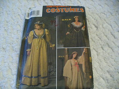 Simplicity 8192 Misses medeival/renaissance costume pattern sizes 4, 6, 8](Medeival Costumes)