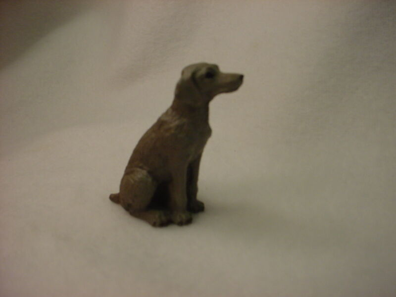 WEIMARANER puppy DOG Figurine HAND PAINTED MINIATURE Small MINI COLLECTIBLE NEW