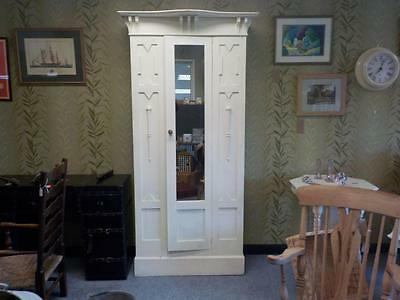 Lovely Edwardian Painted Wardrobe Needs Refurbishing Single Mirror Wardrobe