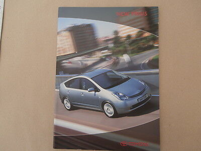 Toyota New Prius brochure. 2003. In Uncirculated condition.