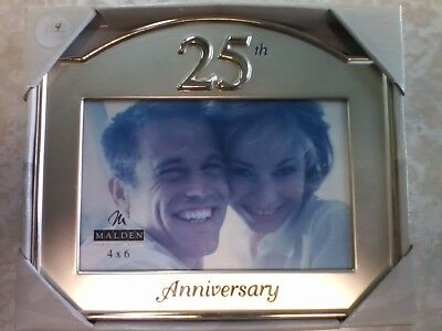 New Malden 25th Anniversary Glass Picture Frame 4x6