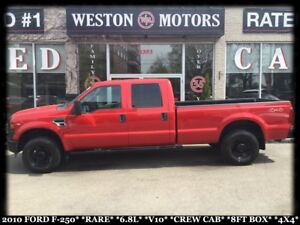 2010 Ford F-250 RARE*6.8L*V10*4X4*CREW CAB*8 FT BOX