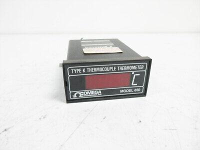 Omega 650-k-x-120vac Type K Thermocouple Thermometer Model 650-k