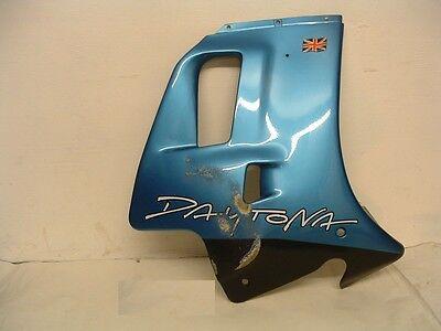 TRIUMPH DAYTONA RIGHT HAND SIDE FAIRING PANEL   BARRACUDA BLUE ALSO FI