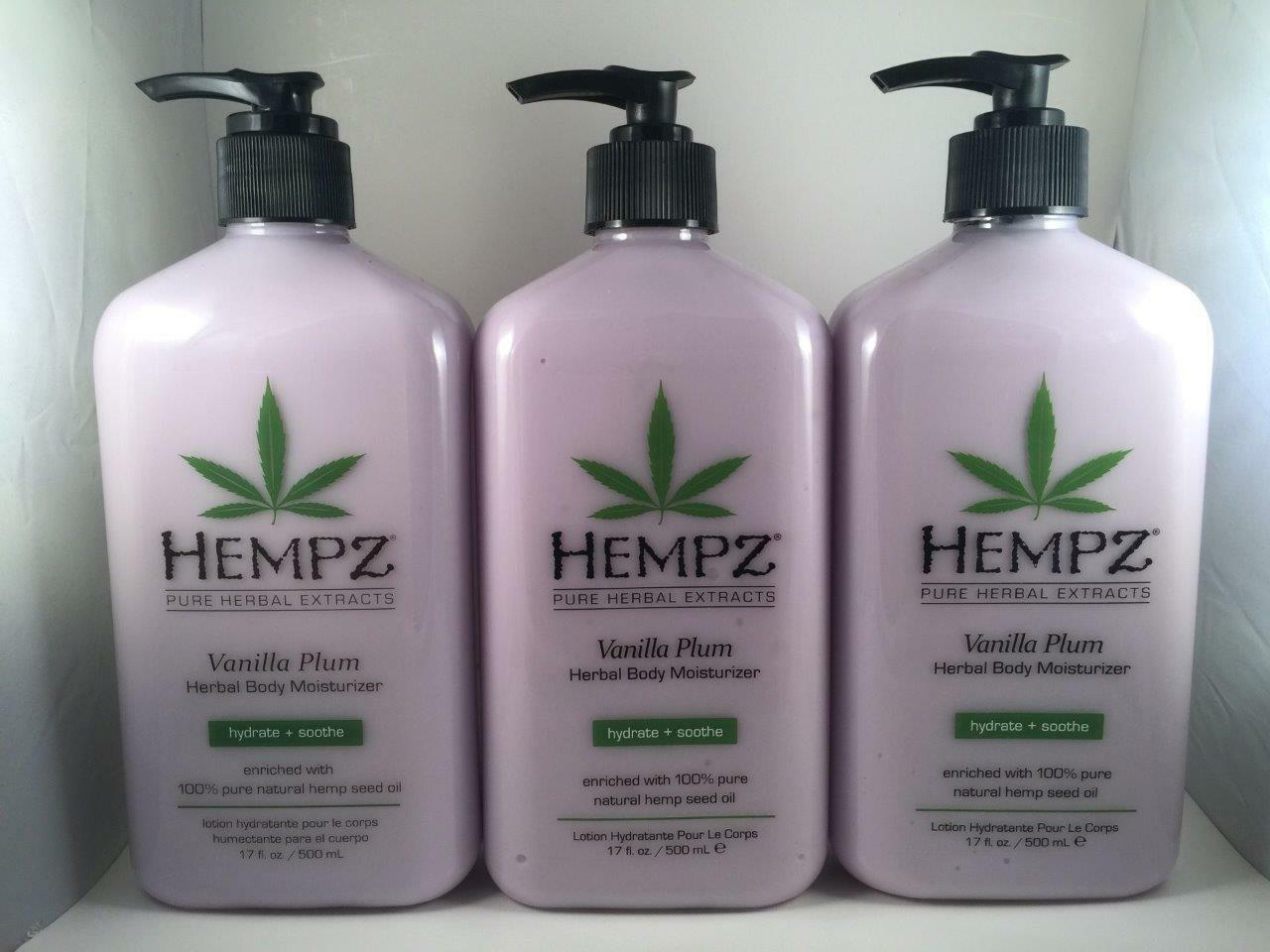 Hempz Lotion Vanilla Plum Herbal Body Moisturizer Daily A...
