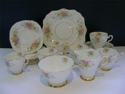Pretty 21 Piece Tea Set by Royal Stafford.