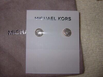 MICHAEL KORS MKJ3895710 GOLD/SILVER COLOURED STUD EARRINGS