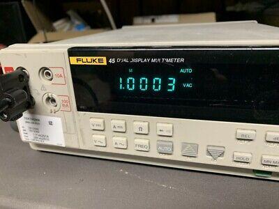 Fluke 45 Benchtop Dual Display 5.5-digit Digital 0v-1000v Multimeter Dm
