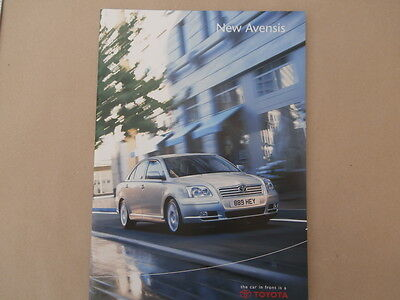 Toyota New Avensis brochure. 2003. In Uncirculated condition.