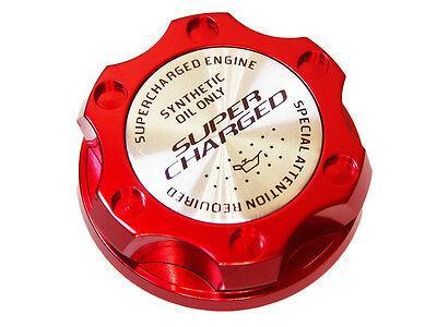 02-06 MINI COOPER S R50 R53 SUPERCHARGED BILLET ENGINE OIL FILLER CAP RED