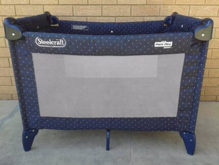 STEELCRAFT PACK 'N' PLAY, PORTABLE PLAYPEN/COT.