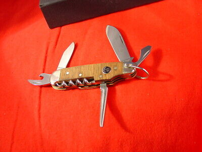 """Boker Germany 3-5/8"""" Flame Chestnut 1869-2009 Camping Scouts Camp Knife MIB"""
