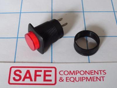 Drucktaste Rund Rot Bezel Qty-5 Spst-No E-Switch Rp3508-ablkrednns 125v Hrc-6