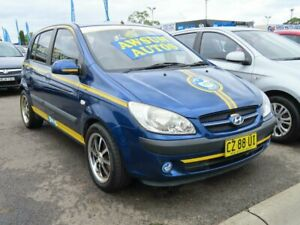 2006 Hyundai Getz TB MY06 Blue & Yellow 5 Speed Manual Hatchback