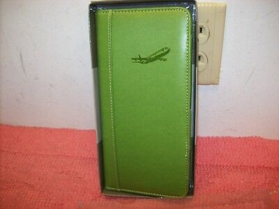 Pierre Belvedere Leather Travel Wallet, Wasabi Olive Green, New, Free ship! ()