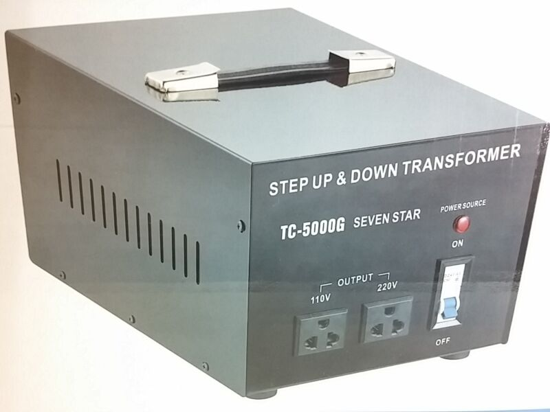 Best 5000 Watt 110 to 220 Volt Voltage Converter Transformer 220v to 110v 5000W