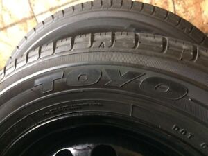 4 summer tires with rims 185/70/14 (4x100)
