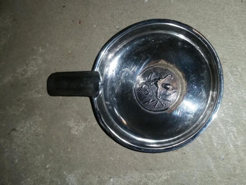 Vintage Sterling Silver Ashtray Marked Siam Silver with Medallion Small