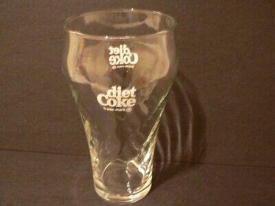 Vintage Diet Coke Clear Swirl Drinking Glass (S0