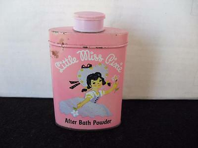Vintage Little Miss Pixie Talcum Powder Tin~LANDERS