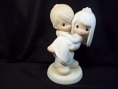 """Precious Moments figurine Bless You Two bride & groom Enesco 1982 E9255 5"""""""