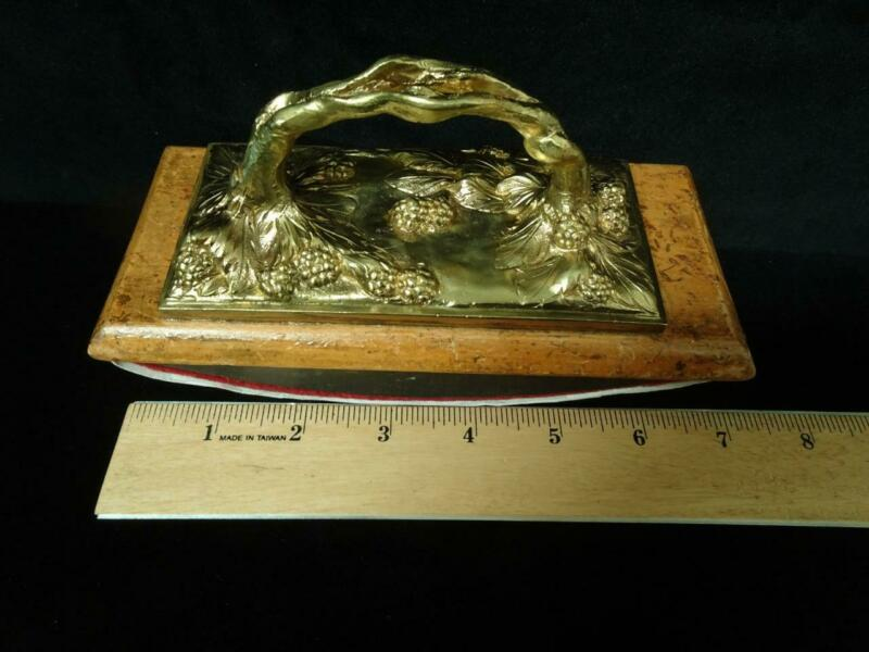 c1900 French Art Nouveau Bronze Blotter Buvard, Raspberries, Marionnet