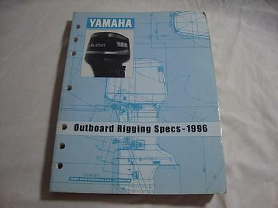 1996 Yamaha outboard motor rigging specs service manual