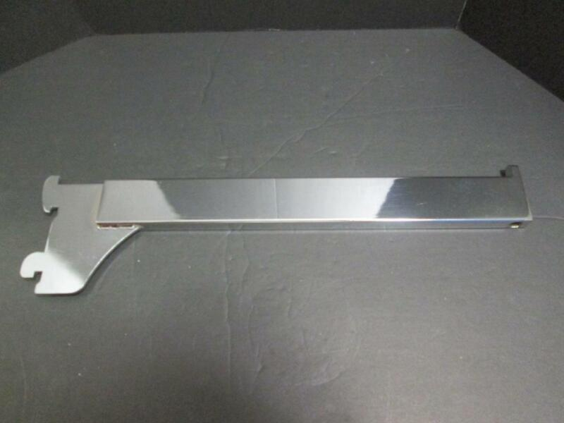Box of 20 Chrome Single Slot Straight Faceout Brackets 12 Inch .