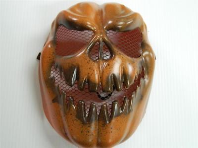 HALLOWEEN HORROR PROP - Modified painted Evil Pumpkin Skull Mask PVC - Painting Halloween Props