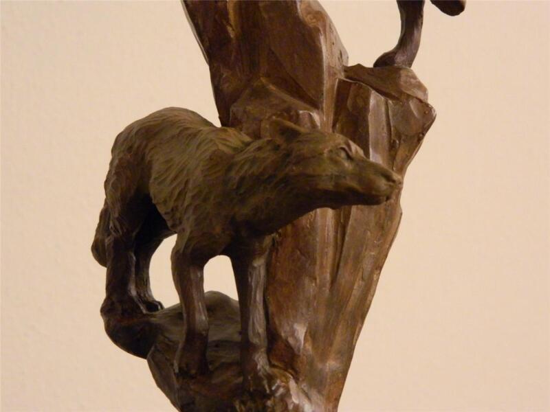 Starlite Creations Primal Visions Moonlight Wolves Ltd Ed Sculpture Retired NIB