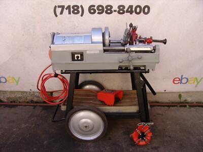 Ridgid 535 Pipe Threader Threading Machine 2 Dies 12-34 1-2 Inch Works Fine