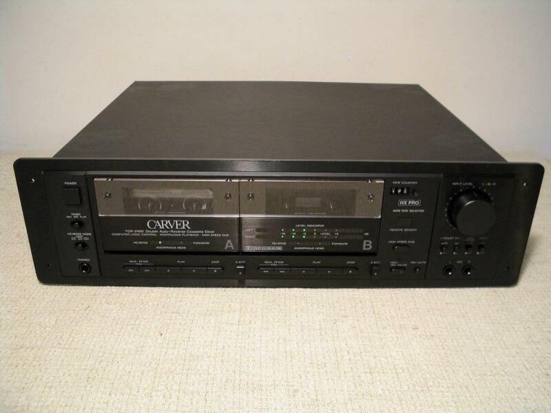CARVER TDR-2400 DUAL AUTO REVERSE CASSETTE TAPE DECK HX PRO MINT RECORDER PLAYER