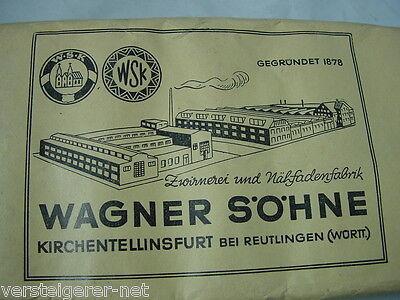 10 Rollen Obergarn 40 WSK Wagner Söhne Zwirnerei Kirchentellinsfurt Reutlingen