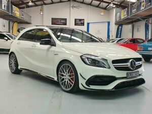 2017 Mercedes-AMG A 45 176 MY17 4Matic Cirrus White 7 Speed Auto Dual Clutch Hatchback Seven Hills Blacktown Area Preview
