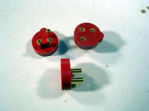 Vintage Augat Mil-Spec TOL 3 Pin Quality  Teflon Transistor Sockets .37 DIA RED