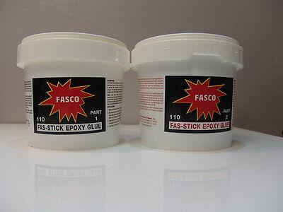 Fasco 110 Epoxy Glue 2 Parts 12 Gallon Kit Makes 64oz Of Epoxy Glue