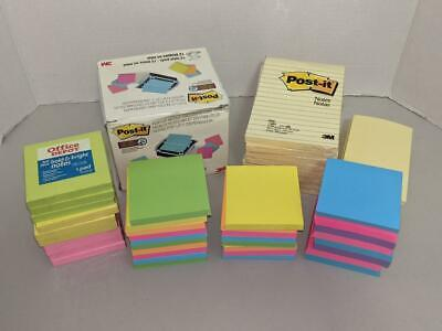 Large Lot Post-it Notes Pads Dispenser Lined Tablets Sticky Notes More New -0721